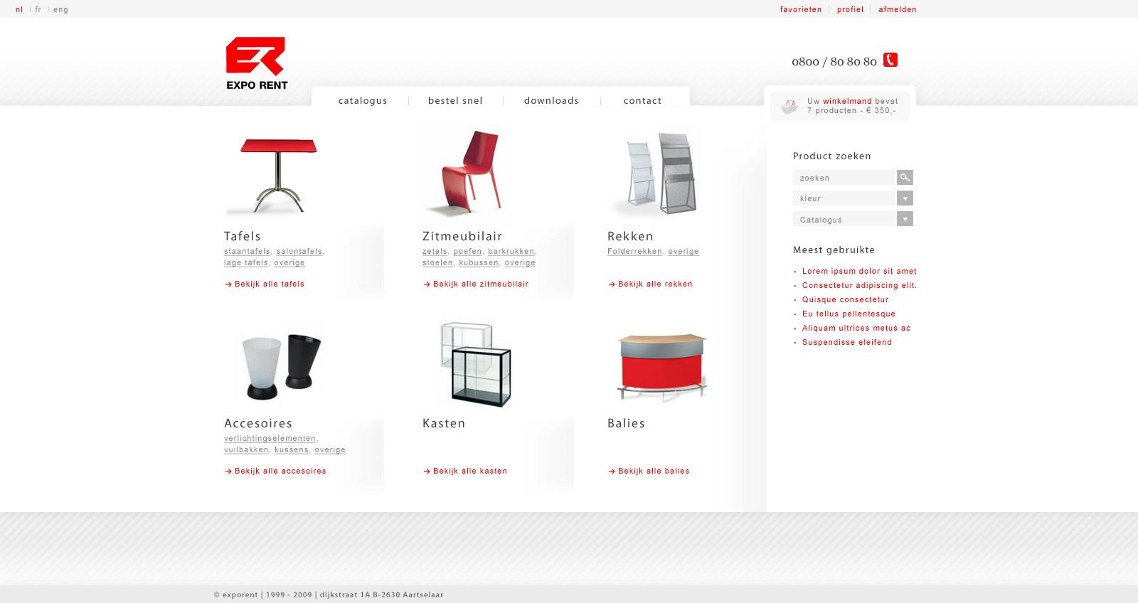 Exporent Homepage